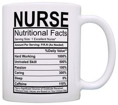 - A funny Nurse gag gift or birthday gift for a Nurse. - This 11 ounce white ceramic coffee mug also makes a great tea cup with its large, easy to grip C-handle. - The premium full color sublimation imprint creates a vibrant, long lasting, and lead-free design. - Microwave and dishwasher safe for your convenience.