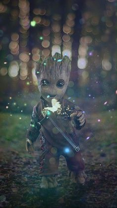 Animated Video GIF(DOWNLOAD) Phone Wallpaper Baby Groot