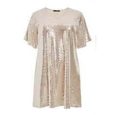 Quiz Ladies Curve Sequin Tunic Dress - Silver   Buy Online in South Africa   takealot.com Sequin Tunic, Silver Dress, South Africa, Short Sleeve Dresses, Sequins, Lady, Stuff To Buy, Fashion, Moda
