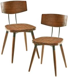 INK+IVY Ink+ivy Frazier Wood Dining Chair 2-piece Set