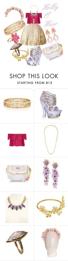"""An Outfit For Holly O' Hair"" by lunabones ❤ liked on Polyvore featuring Tiffany & Co., Versace, Topshop, Floozie by Frost French, Charlotte Russe, Alex Monroe, Eugenia Kim and Ek Thongprasert"