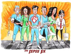 Sepsis SIX! Use creative marketing/education to treat sepsis and meet core measure guidelines. Nursing Crib, Nurse Ratchet, Septic Shock, Oncology Nursing, Critical Care Nursing, Arts And Crafts Storage, Sepsis, Nursing Notes, Nursing Exam