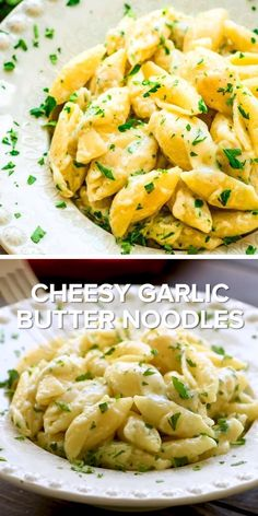 dinner side dishes Easy cheesy noodle recipe is the perfect comfort food dinner meal for the cold weather! This Cheesy Garlic Butter noodle is a home-cooked meal idea that comes toge Garlic Butter Noodles, Buttered Noodles, Butter Noodle Recipe, Butter Dish, Easy Pasta Dishes, Side Dishes Easy, Steak Side Dishes, Vegetarian Recipes, Cooking Recipes