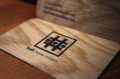 Wooden business cards design #businesscards #branding #identity #design #wine #winecellars #wood #print