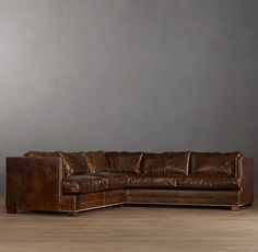Easton Leather Sectionals   Traditional   Sectional Sofas   By Restoration  Hardware