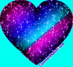 purple sparkle butterfly and heart pictures | Pink And Purple Glitter Heart MySpace Glitter Graphic Comment