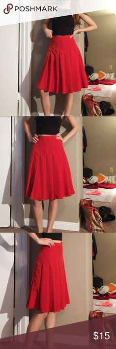 "Vintage 90' Newport News high waist skirt High waisted pleated midi tennis skirt. Color: Red. Size: 8. Waist: 27""/28"". Length: 22.5"". Gently used condition. Newport News Skirts Midi"