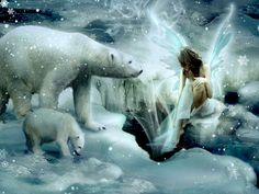 Beautiful Winter Fairies and Angels | cynthia-selahblue (cynti19) Winter Fairy wallpaper