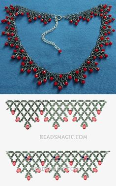 Best Seed Bead Jewelry 2017 Free Pattern for Sorbo Rocailles Necklace . - Best seed bead jewelry 2017 Free pattern for necklace Sorbo Rocailles … – - Beaded Necklace Patterns, Seed Bead Patterns, Bracelet Patterns, Beading Patterns, Loom Patterns, Necklace Designs, Necklace Ideas, Diy Necklace, Craft Ideas