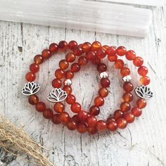 Carnelian Bracelet - Creative Mojo Crystal Healing Bracelet Infused w/Reiki | Genuine 8mm Carnelian Beaded Bracelet | Sacral Chakra Mala Healing Bracelets, Crystal Bracelets, Crystal Beads, Sacral Chakra Stones, Carnelian, Crystals And Gemstones, Crystal Healing, Reiki, Gifts For Mom
