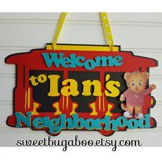 Daniel Tiger Door sign, Welcome Sign