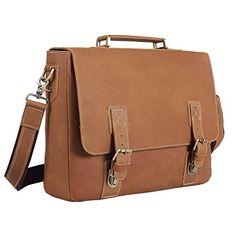 Polare Men's Vintage Thick Genuine Leather Messenger Bag ...