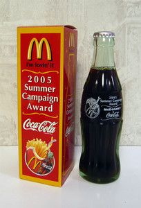 Coca Cola Mcdonald's Japan 2005 summer campaign award bottle in box