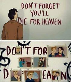 I did it all for you,Dean   wooh but for me it's little creepy!! XD