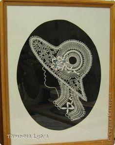 Картина панно рисунок Плетение на коклюшках Дамы бальзаковского возраста Нитки фото 3
