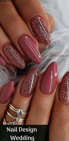 Nail Design Wedding sparkly nails great for valentines day w.- Nail Design Wedding sparkly nails great for valentines day with Beautiful Design with Pink color and Glitter Nails Picture Credit - Diy Wedding Nails, Wedding Nails Design, Glitter Wedding, Polish Wedding, Wedding Acrylic Nails, Wedding Designs, Crazy Nail Designs, Nail Art Designs, Coffin Nail Designs