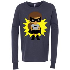 Bat Girl 3501Y Bella + Canvas Youth Jersey LS T-Shirt