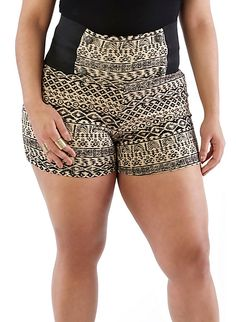 Plus size high waisted dress shorts