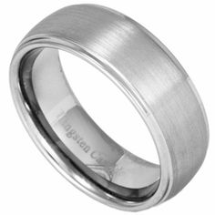 8MM Classic Domed Men's Tungsten Ring w/ Brushed Center. Engraving is available for this ring at #ringninja. $59.99.       http://ring-ninja.com/tungsten-ring-rntu067.html