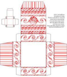 Peppermint Twist Box printable