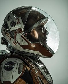 """Andy Weir, Los Angeles 2016 for @natgeo.  Andy's brilliant book """"The Martian"""" was adapted into a wonderful film by Ridley Scott starring Matt Damon. @jmwender and I thought it would be fun to photograph him in the suit that Matt wore in the film.  Fox's wardrobe department helped make it happen @20thcenturyfox."""