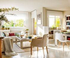 how to stage a home: Replace that clunky chair  You may know how to maneuver through your crowded living room, but potential homebuyers won't. Replacing just one large chair or loveseat with a sleek, neutral   arm chair   will make the room seem liveable again.