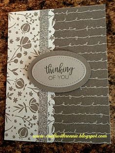 Basics Fundamentals and Thinking of You stamp from Close to My Heart, find more at www.craftwithronnie.blogspot.com