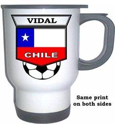 Arturo Vidal (Chile) Soccer White Stainless Steel Mug