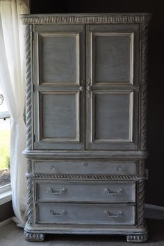 {Gorgeous Armoire & Vintage Calligraphy Desk} | Altar'd: Custom Hand Painted & Refinished Furniture and Vintage Home Décor