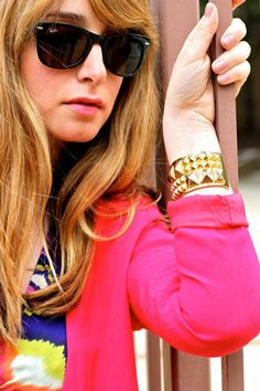 Ray Bans gold spiked cuff!