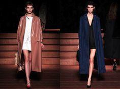 Mini dresses under long coats Miu Miu SS2013