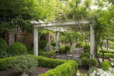 Terrace Garden — Falkner Gardens Inside Pool, Period Living, Atlanta Homes, French Country House, Terrace Garden, French Decor, Shade Garden, Traditional House, Pergola