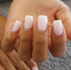 """Nails square """"Lisbon Wants Moor� by OPI is a beautiful creamy opaque pink nude color— p. """"Lisbon Wants Moor� by OPI is a beautiful creamy opaque pink nude color— perfect on these short, square acrylic nails. Short Square Acrylic Nails, Blue Acrylic Nails, Summer Acrylic Nails, Acrylic Nail Designs, Square Gel Nails, Short Square Nails, Painted Acrylic Nails, Sqaure Nails, Gel Polish Designs"""