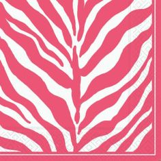 "Design Design Serengeti Pink & White Lunch Napkin (Single Package of 20 Napkins) by Design Design. $9.14. Imported with high quality 3-ply paper. Full color design on all panels. Each napkin measures 6.25""x 6.25"". Colors designed to coordinate easily with other home accessories. 20 napkins per package. Welcome to the jungle.  This hot pink and white zebra party tableware will get the party started.  Embrace your wild side!  Each package contains 20 napkins. Save 63%!"
