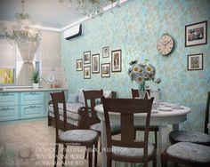 кухня голубые обои: 23 тыс изображений найдено в Яндекс.Картинках