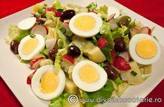 salata-orientala-de-primavara Cobb Salad, Festive, Food, Salads, Meal, Eten, Meals