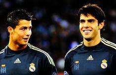 @Kaka and @Ronaldo for @RealMadrid #Fan360 Ronaldo Free Kick, Ricardo Kaka, Ac Milan, Madrid, All Star, Football, Goals, Buddha, Sports