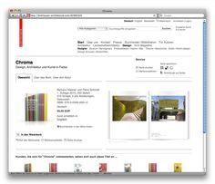 Online-Shop für den Birkhäuser Verlag, Basel (2009): Produktseite mit issuu-Blätterfunktion