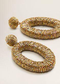 Pendientes colgantes cristales Bead Embroidery Jewelry, Beaded Jewelry, Jewelry Necklaces, Handmade Jewelry, Beaded Bracelets, Jewellery, Jewelry Design Earrings, Crystal Earrings, Women's Earrings