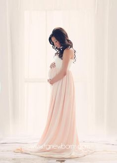 c6a00308eb0 Miley Ombre Gown • Maternity Gown • Multi-layer Tiered Chiffon Dress •  Split Front Maternity Dress • Chiffon Maternity Gown • by Sew Trendy