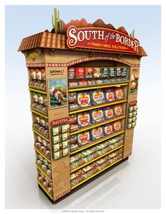 South Of The Border Point of Purchase Shop Display Stands, Pos Display, Visual Display, Store Displays, Display Design, Retail Displays, Shop Shelving, Point Of Purchase, Point Of Sale
