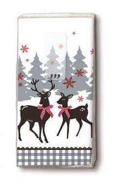 bedruckte Taschentücher Rentiere im Wald - Servietten Versand Tischdeko Kerzen OnlineShop Paper Design, Playing Cards, Reindeer, Dinner Napkins, Candles, Christmas, Ideas, Woodland Forest, Playing Card Games