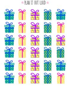 Present Stickers (planner stickers)