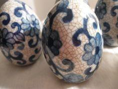 decorative hollow ceramic eggs