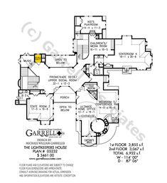 Lightkeeper's House House Plan Floor Plan, Coastal Style House Plans, Master Down House Plans Victorian House Plans, Victorian Homes, Home Design Plans, Plan Design, Coastal Style, Coastal Decor, See Through Fireplace, Decorating On A Dime, State Room