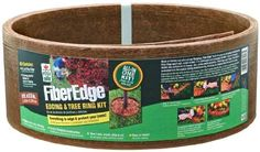 DIY Tree Ring Planter Ideas to Beautify Your Outdoor - GODIYGO.COM Diy Tree Rings, Garden Edging, Garden Structures, Blooming Flowers, Garden Supplies, Coffee Cans, Curb Appeal, Planters, Planter Ideas