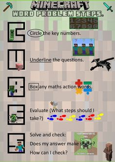 On a previous pin, I discussed how mine craft could teach perimeter, area, and other math concepts. Although this method is not teaching anything, I could use it as an informal assessment as to who is reading and understanding the directions. Math Problem Solver, Math Solver, Minecraft Classroom, Math Classroom, Minecraft Activities, Classroom Ideas, Math Teacher, Teaching Math, Math Graphic Organizers