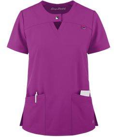 If you're looking for fashion and flair, try the Easy STRETCH by Butter-Soft™ Gal Jewel Neck Scrub Top. Be on trend with fashion scrubs at Uniform Advantage! Cute Scrubs, Easy Stretches, Medical Uniforms, Medical Scrubs, Scrub Pants, Scrub Tops, Classic Looks, Dress Patterns, Mens Tops
