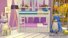 Basic Bunk Bed - Frame Only Another new bunk bed mesh for you all because we need more variety & I didn't have time to make anything halloweeny for Simblreen so HAPPY SIMBLREEN!! Download below the...