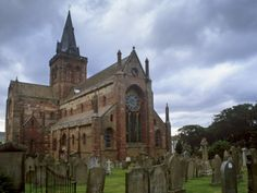 One of my favorite spots I found in my travels.  St Magnus Cathedral on the Orkney Islands in Scotland.